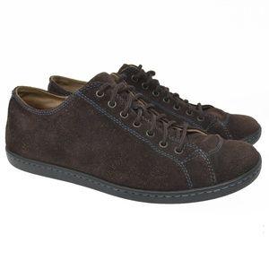 BORN Sz 9.5 Brown Leather Blue Stitch Comfort Shoe